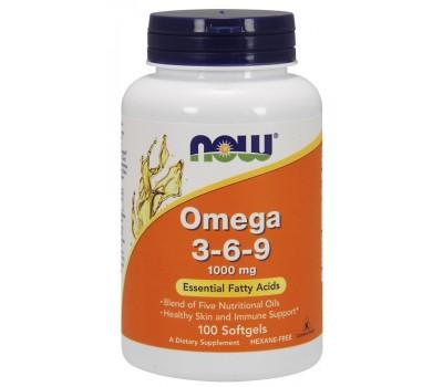 NOW Omega 3-6-9 1000mg (100 гел.кап)