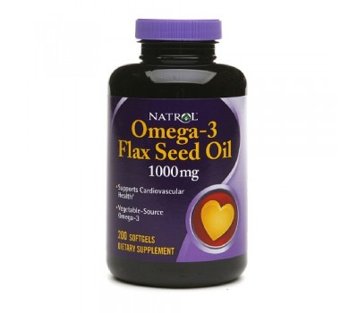 Natrol Flaxseed Oil 1000 mg (200 кап)