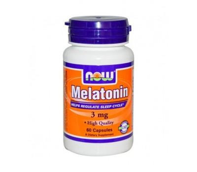 NOW Melatonin 3mg (60 кап)