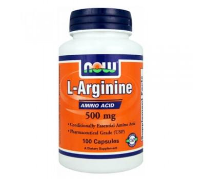 NOW Arginine 500 mg (100 кап)