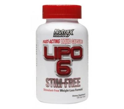 Nutrex Lipo 6 Stim-Free (120 кап)