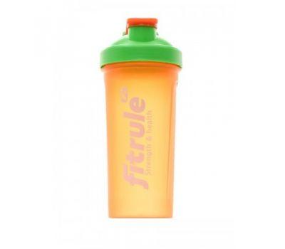 Шейкер FitRule 700ml - Оранжевый+зеленая крышка