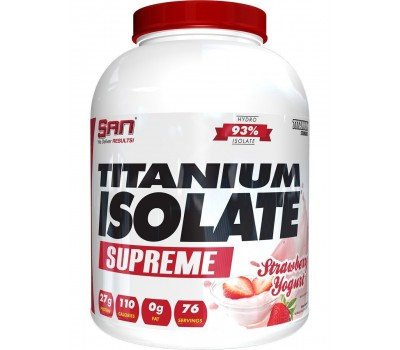 SAN Titanium Isolate Supreme 2 lb 903g (Strawberry Yogurt)