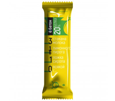 Ё|Батон 20% protein 50g 2шт (Лимонник)