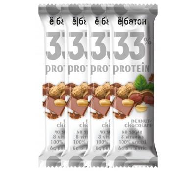 Ё|Батон 33% protein 45g 1шт (Peanut chocolate)