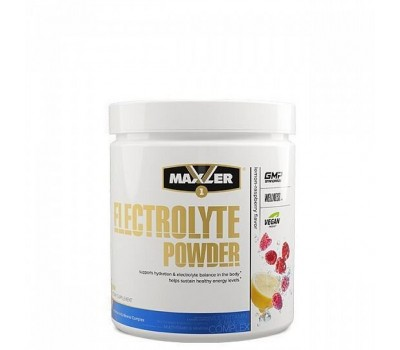 Maxler Electrolyte Powder 204g can (Lemon-Raspberry)