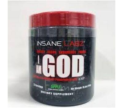 Insane Labz I am GOD 290g (25 serv) (Яблоко)
