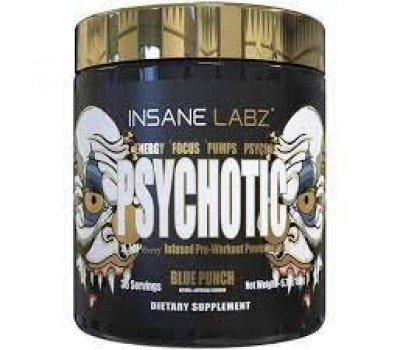 Insane Labz Psychotic Gold 35 serv 190g (Blue punch)