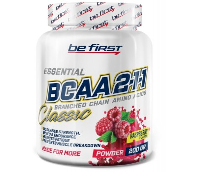 Be First BCAA 2:1:1 CLASSIC powder 200g (Малина)