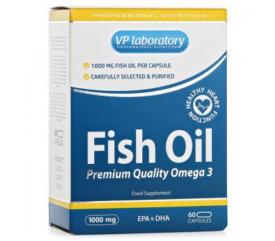VPlab Fish Oil 1000mg (60 кап)